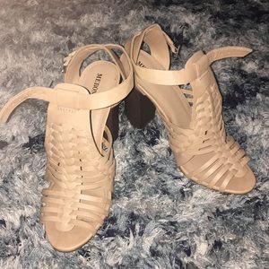 Tan sandal heels
